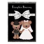 Teddy Bear Bride & Groom Wedding Business Cards
