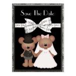 Teddy Bear Bride & Groom Wedding Postcards