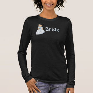 Teddy Bear Bride Wedding Long Sleeve T-Shirt