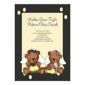 Teddy Bear Brides Wedding Personalized Announcements