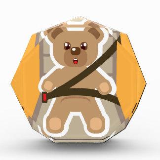 Teddy Bear buckle Up Acrylic Award