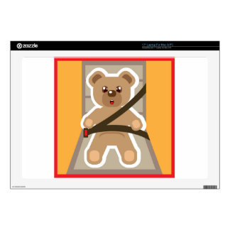 """Teddy Bear buckle Up Decals For 17"""" Laptops"""