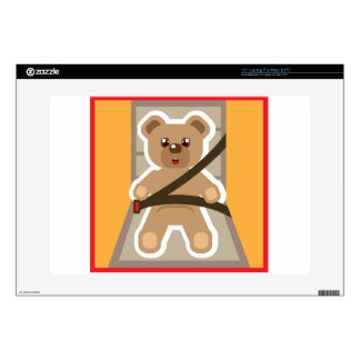 Teddy Bear buckle Up Decals For Laptops