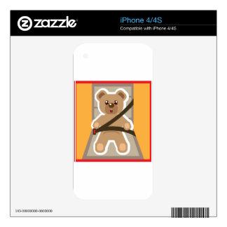 Teddy Bear buckle Up iPhone 4 Decal