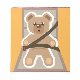Teddy Bear buckle Up Note Pad