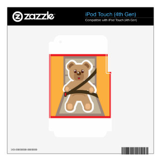 Teddy Bear buckle Up Skins For iPod Touch 4G
