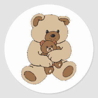 Teddy Bear Buddies Classic Round Sticker
