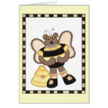 Teddy Bear Bumblebees Greeting Cards