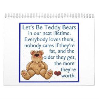 Teddy Bear Calendar