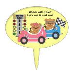 Teddy Bear - Car Theme Gender Reveal Cake Pick