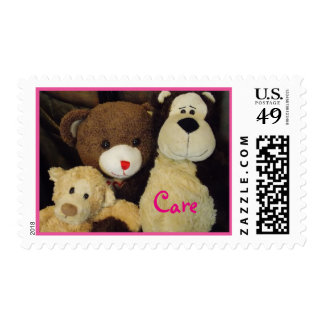 "Teddy Bear ""Care"" stamps"