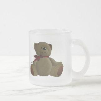 Teddy Bear Cartoon Frosted Glass Coffee Mug