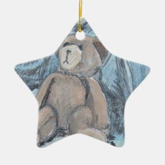Teddy bear ceramic ornament