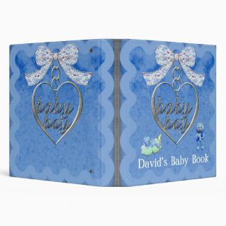 Teddy Bear Charm Boy Blue Baby Shower Binder