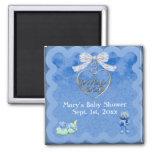 Teddy Bear Charm Boy Blue Baby Shower Magnet
