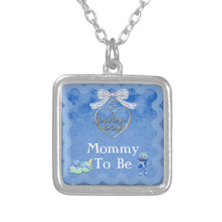 Teddy Bear Charm Boy Blue Baby Shower Pendants