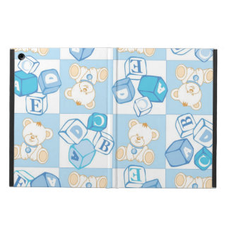 Teddy bear checked pattern case for iPad air