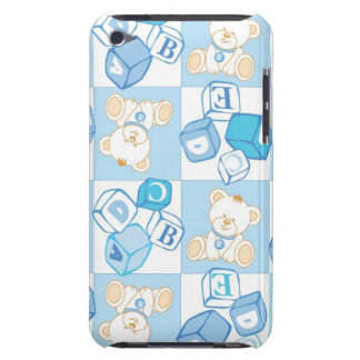 Teddy bear checked pattern iPod touch cover