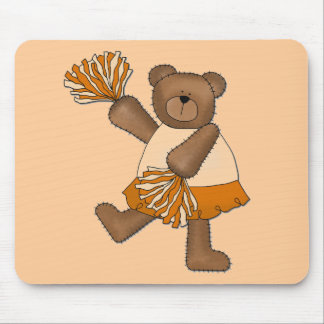Teddy Bear Cheerleader Orange T-shirts and Gifts Mouse Pad