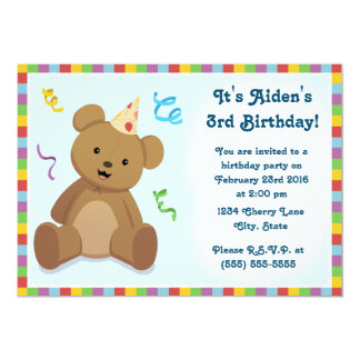 Teddy Bear Children's Birthday Invitation