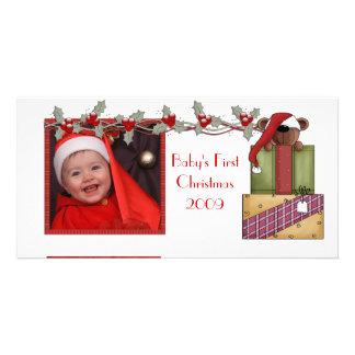 Teddy Bear Christmas Card Personalized Photo Card