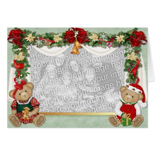 Teddy Bear Christmas Greeting Card