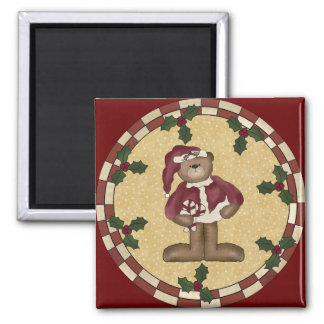 Teddy Bear Christmas Magnet