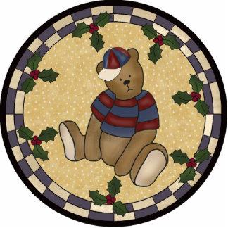 Teddy Bear Christmas Ornament Photo Sculpture