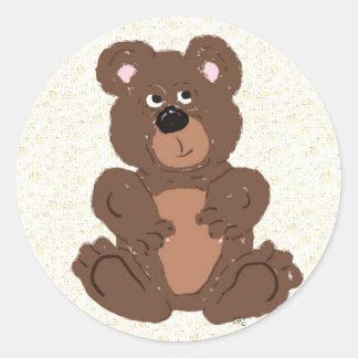 Teddy Bear Classic Round Sticker