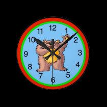 Teddy Bear Clock Face wall clocks