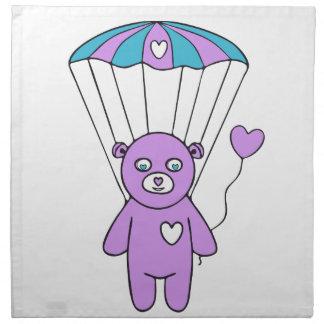 Teddy bear cloth napkin