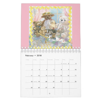 Teddy Bear Collection Calendar 2018