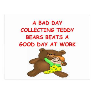 teddy bear collector postcard
