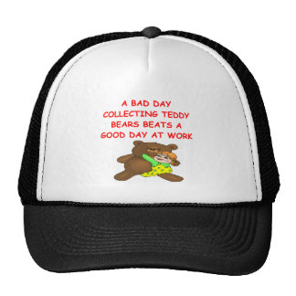 teddy bear collector trucker hat