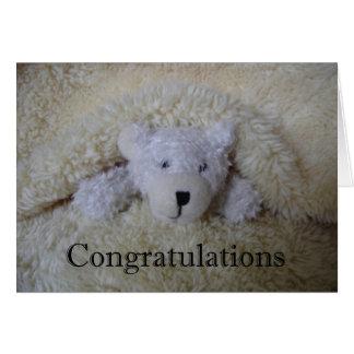 teddy bear congratulations card