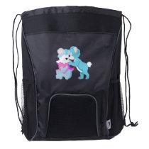 Teddy Bear Couple Drawstring Backpack