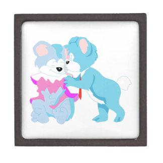 Teddy Bear Couple Gift Box