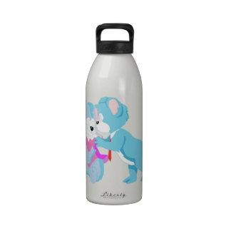 Teddy Bear Couple Water Bottles