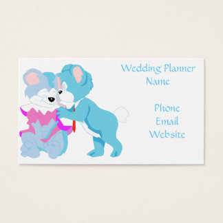 Teddy Bear Couple Wedding Business Cards