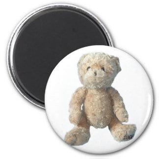Teddy Bear - Crystal 2 Inch Round Magnet
