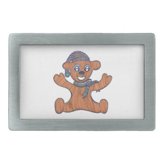 Teddy Bear Cuddles Rectangular Belt Buckle