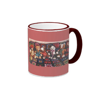 Teddy Bear Cup Ringer Coffee Mug