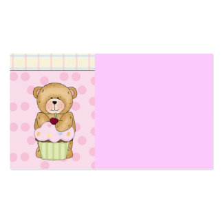 Teddy Bear Cupcake Party Double-Sided Standard Business Cards (Pack Of 100)