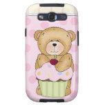 Teddy Bear Cupcake Party Galaxy S3 Cases