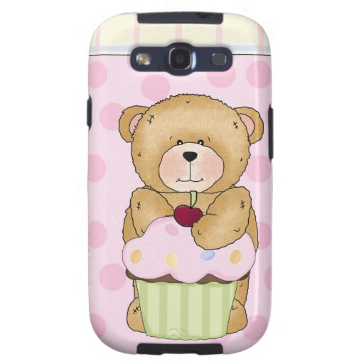 Teddy Bear Cupcake Party Galaxy S3 Cases