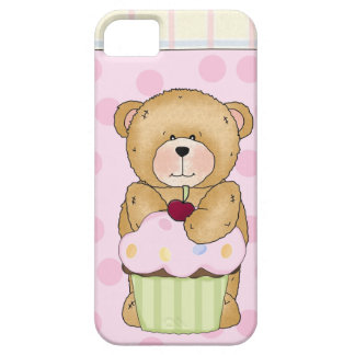 Teddy Bear Cupcake Party iPhone SE/5/5s Case