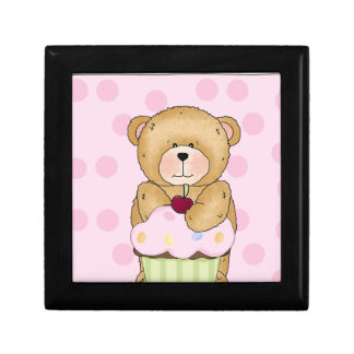 Teddy Bear Cupcake Party Jewelry Box