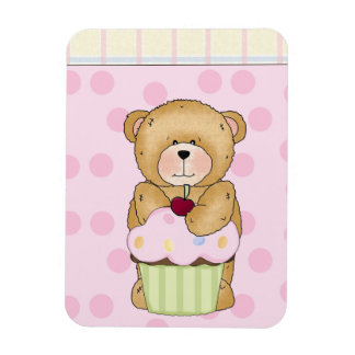 Teddy Bear Cupcake Party Magnet