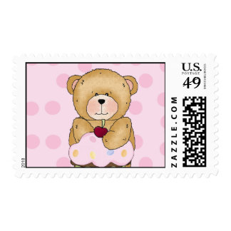 Teddy Bear Cupcake Party Postage