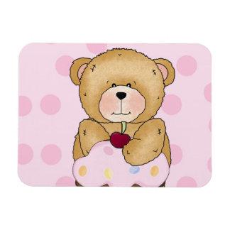 Teddy Bear Cupcake Party Rectangular Photo Magnet